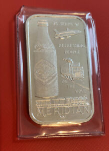*Low Serial#* Coca-Cola 75th Anniversary *MERIDIAN MISSISSIPPI* SILVER ART BAR