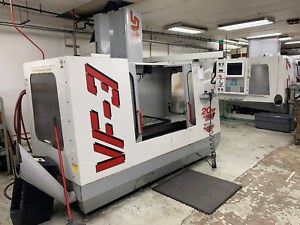 Used 1998 Haas Vf 3 Cnc Vertical Machining Center Mill Gear Box Ct40 Rigid Tap