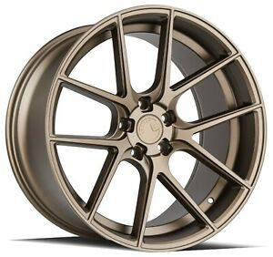 Aodhan Aff3 20x9 32 20x10 5 45 5x114 3 Matte Bronze Mustang Staggered Set Of