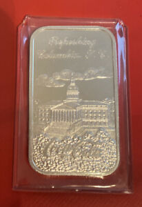 #430/2000 Mintage Coca-Cola 75th Anniversary *COLUMBIA  SC* Silver Art Bar