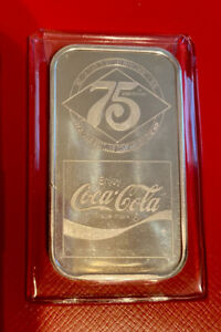 Coca-Cola 75th Anniversary *CHICAGO  IL* .999 Silver Art Bar