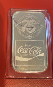 Coca-Cola 75th Anniversary *COLUMBUS  GA* (TYPE 1) Silver Bar