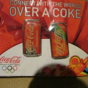 Coca Cola Pin set connect the world olympic set