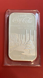 **LOW SERIAL #**. Coca-Cola 75th Anniversary *ROCKWOOD  TN* .999 Silver Bar.