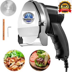 Electric Rechargeable Doner Kebab Knife Wireless Slicer Gyro Cutter Blade