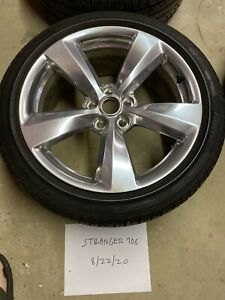 Set Of Four 4 19 Ford Mustang 18 20 Premium Wheels Tires Pirelli 255 40zr19