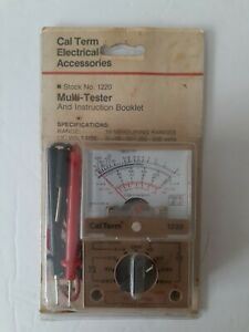 Vintage Cal Term Electrical Accessories Multi tester