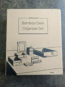 Uplift Desk Bamboo Organizer Set New