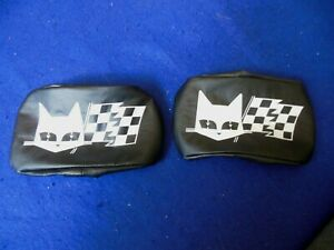 Repro Marchal Blk Fog Driving Light Lamp Covers Ferrari Aston Shelby Mustang