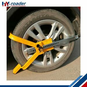 Top Durable Heavy Duty Wheel Clamp Lock Boot Tire Claw Trailer Auto Car