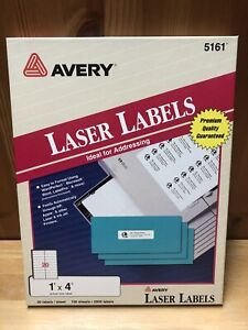Avery Address Labels For Laser Printers 5161 1 X 4 69 Sheets 1380 Labels