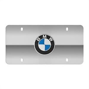 Bmw Marquee Rondell Polished License Plate Insert Oem 82121470314