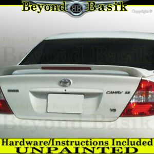For 2002 03 04 05 2006 Toyota Camry Factory Style Spoiler Wing W Led Unpainted