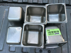 Lot Of 6 Stainless Steel Sixth Size 6 Deep Steam Table Pans 1 6th