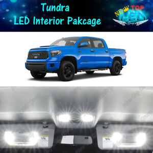 17x White Led Lights Interior Package Kit For 2007 2019 2020 Toyota Tundra