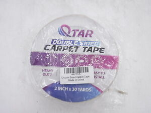 Removable Double Sided Carpet Tape Heavy Duty Sticky Tape 2 Inch X 30 Yards
