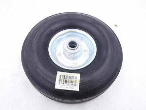 Single Solid Rubber Wheel Tire 8 X 2 5 300lb Load Rating 5 8 Bore Hand Truck