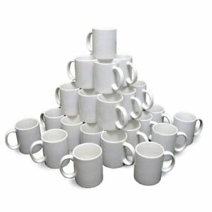 Us 36 Pcs Aaa Grade Blank White Mugs 11oz Sublimation Coated Mugs For Heat Press