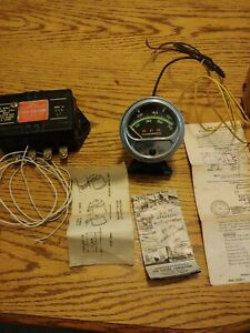 Vintage Sun Tach Tachometer 7000 Rpm Rc70 In Box And Used Transmi