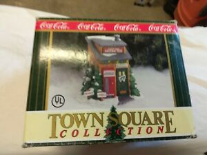 coca cola  xmas tree farm building xmas village