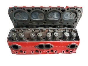 Sbc Pair Of 3890462 Small Block Chevy Cylinder Heads Camel Back Hp A226 B26