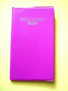 2021 Pink Weekly Planner Pocket Purse Small Mini Calendar Organizer Holidays