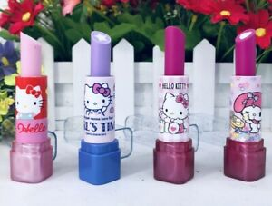 Cute Hello Kitty My Melody Eraser Pink Lip Balm Design Sparkle Twist Sanrio Gift