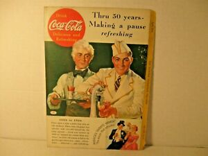 Vintage Coca-Cola 50th Anniversary Ad National Geographic April 1936 Issue Orig