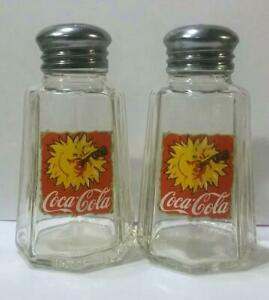 Charming Set of 2 Coca Cola Salt and Pepper Shakers # 5