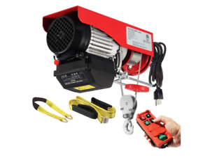 Partsam 880lbs Automatic Lift Electric Cable Hoist W Wireless Remote Control