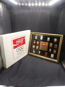 Limited Edition 16th Anniversary Olympic Winter Games Coca-Cola Pin Set In Frame