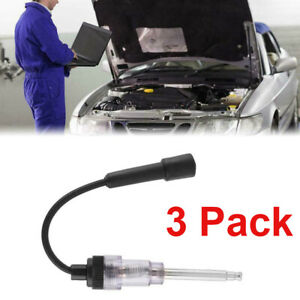 3pcs Ignition Tester Practical Spark Plug Engine Tester For Auto Car Motorcycle