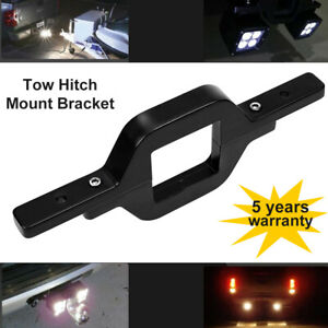 3inch Tow Hitch Mounting Bracket Back up Reverse Search Led Light Bar Truck Suv