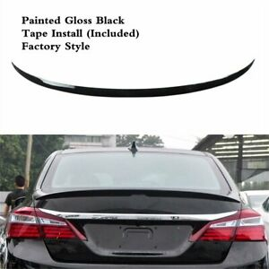 Rear Trunk Spoiler Wing Lip Painted Gloss Black Fit For Honda Accord 2013 2017
