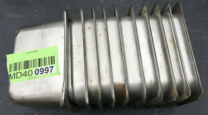 Lot Of 10 Stainless Steel Ninth Size 4 Deep Steam Table Pans 997