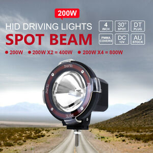 200w 4inch Hid Xenon Driving Light Off Road Work Lamp Euro Beam Spotlight Us