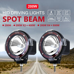 2pcs 200w 4inch Hid Xenon Driving Light Off Road Work Lamp Euro Beam Spotlight