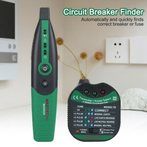 Ms5902 Automatic Ac 220v Portable Circuit Breaker Finder Socket Tester Factory