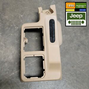 Shifter Center Console Camel For 2001 Jeep Wrangler Tj Oem Free Shipping