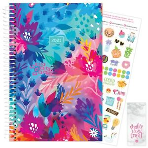 2021 Floral Jungle Calendar Year Daily Planner Agenda 12 Month January Dec