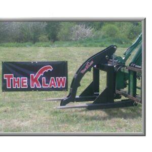 Log Steel Grapple Klaw Lumber Lift Equipment Tractor Skid Loader Attachment
