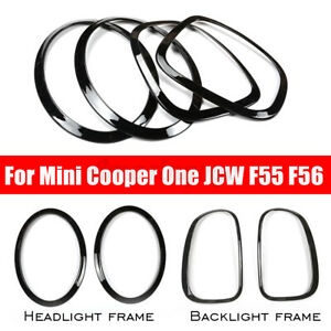 4pcs Headlight Head Tail Rear Lamps Trim For Mini Cooper One Jcw F55 F56 B