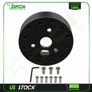 1 Black Steering Wheel Hub Adapter Spacer For 6 Hole Grant Apc 3 Hole
