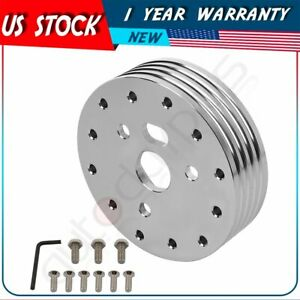 1 Silver Steering Wheel Hub Adapter Spacer For 6 Hole Grant Apc 3 Hole