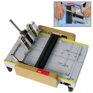 New A3 Booklet Making Machine Paper Bookbinding Folding Booklet Stapling 110v Us