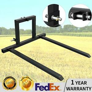 3 Point Hitch Pallet Forks Attachments Cat 1 Tractor Carryall Adjustable Forks