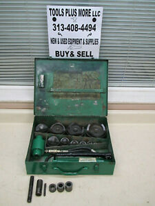 Greenlee 7310 1 2 4 Hydraulic Knockout Punch Set 100 Complete Used