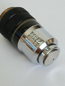 Zeiss Plan 63x 0 90 Microscope Objective With Collar Spring Loaded 160 0 11 0 23