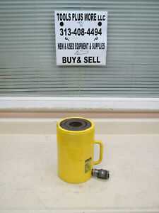 Otc Spx 60 Ton 3 Stroke Hollow Plunger 10 000 Psi Hydraulic Cylinder Used