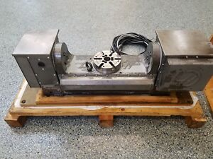Used Haas Tr 160 Brushless Trunnion Sigma 1 Rotary Table Indexer 4th 5th Axis